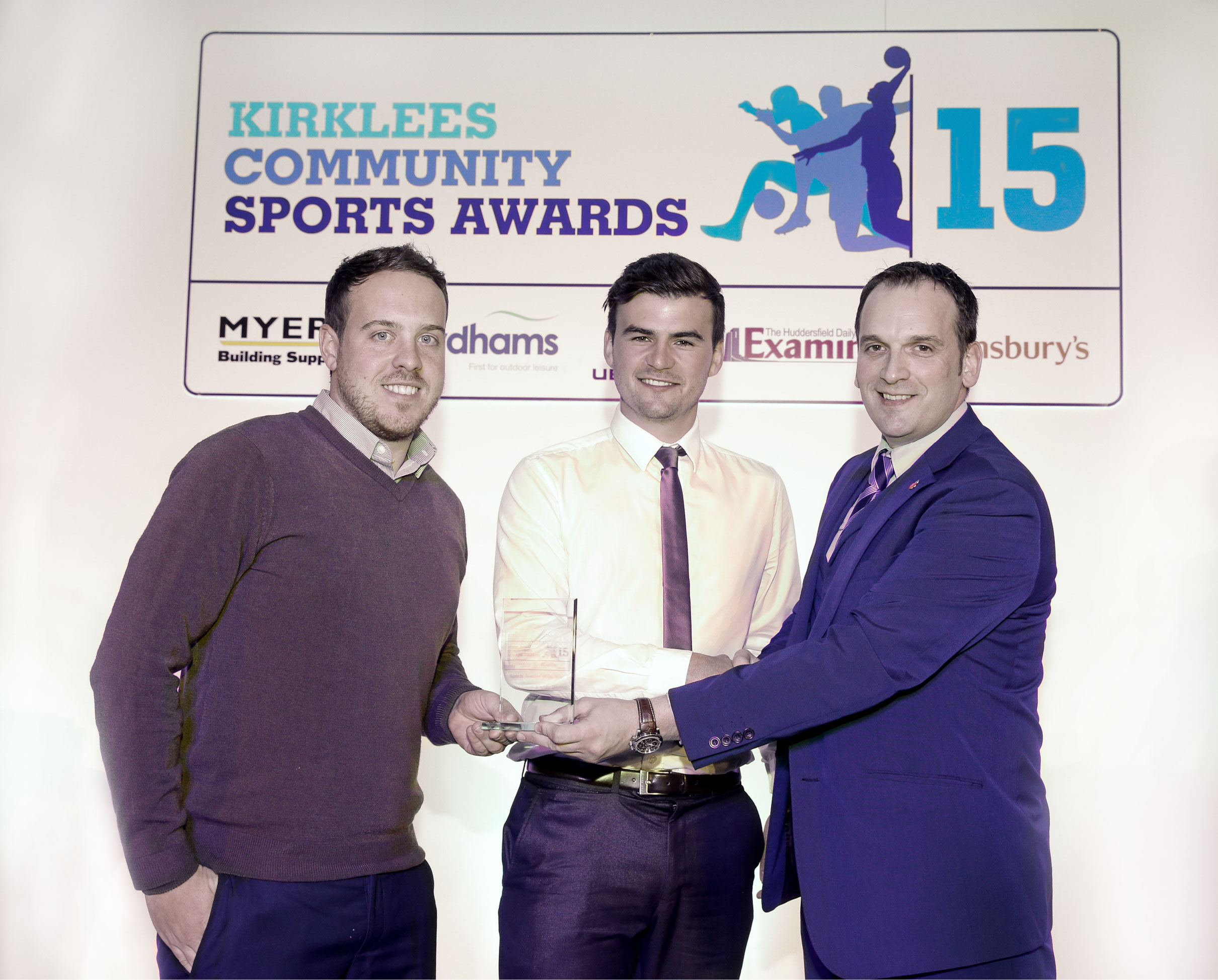 Kirklees Community Sports Awards - Sports Teachers of the Year 2015 Winners, Project Sport's Andy Gledhill and Antony Leech